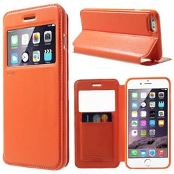 Roar Korea Noble View Window Leather Case for iPhone 6 Plus (5.5 inch) - Orange