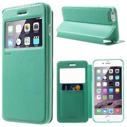 Roar Korea Noble View Window Leather Case for iPhone 6 Plus (5.5 inch) - Cyan