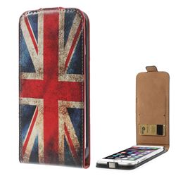 Retro UK National Flag Pattern Vertical Leather Flip Case for iPhone 6 Plus(5.5 inch)