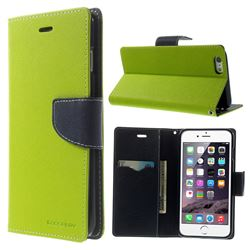 Mercury Fancy Diary Leather Flip Cover for iPhone 6 Plus (5.5 inch) - Green